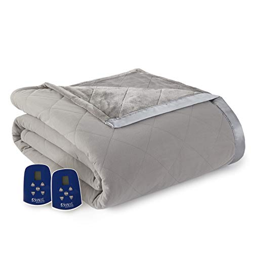 Thermee Micro Flannel Electric Blanket King Pewter